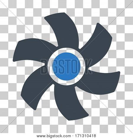 Rotor icon. Vector illustration style is flat iconic bicolor symbol smooth blue colors transparent background. Designed for web and software interfaces.