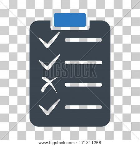 Task List icon. Vector illustration style is flat iconic bicolor symbol smooth blue colors transparent background. Designed for web and software interfaces.