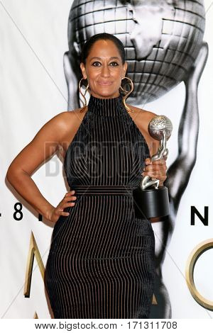 LOS ANGELES - FEB 11:  Tracee Ellis Ross at the 48th NAACP Image Awards Press Room at Pasadena Conference Center on February 11, 2017 in Pasadena, CA