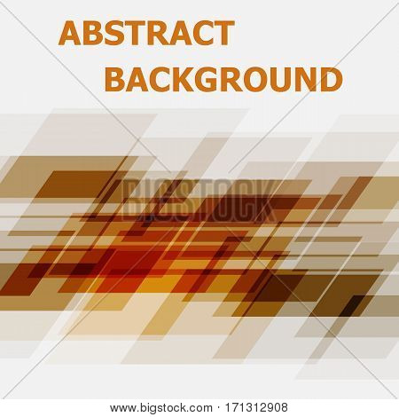 Abstract orange geometric overlapping design background, stock vector
