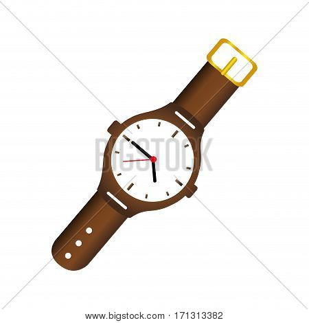 color silhouette with male wristwatch vector illustration