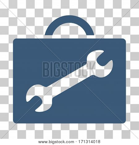 Repair Equipment Case icon. Vector illustration style is flat iconic symbol blue color transparent background. Designed for web and software interfaces.
