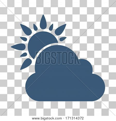 Weather icon. Vector illustration style is flat iconic symbol blue color transparent background. Designed for web and software interfaces.