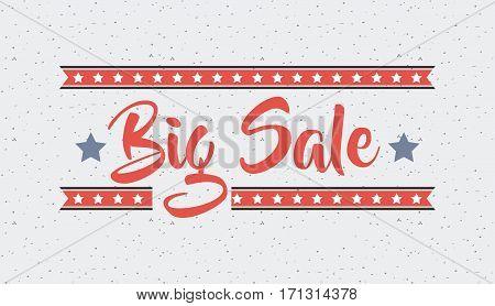big sale card with decorative stars. colorful design. vector illustration