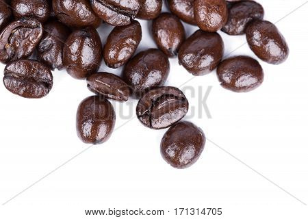 Coffee beans isoalted on a white background