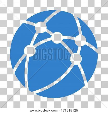 Browser icon. Vector illustration style is flat iconic symbol cobalt color transparent background. Designed for web and software interfaces.