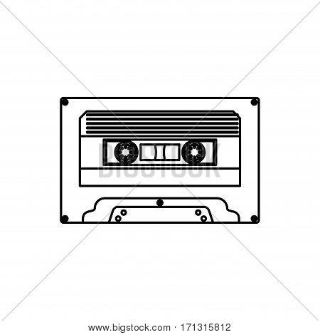 Cassette music device icon vector illustration graphic design