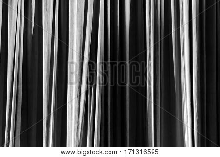 Texture Background Black And White Curtain.