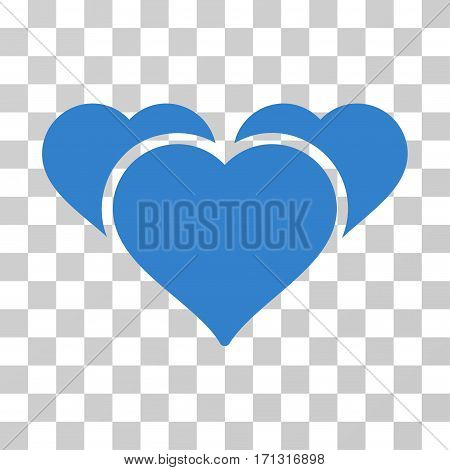 Favourite Hearts icon. Vector illustration style is flat iconic symbol cobalt color transparent background. Designed for web and software interfaces.