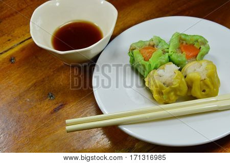 dim sum meaning touch of heart with soy sauce