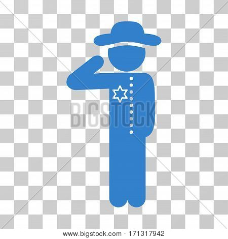 Gentleman Officer icon. Vector illustration style is flat iconic symbol cobalt color transparent background. Designed for web and software interfaces.
