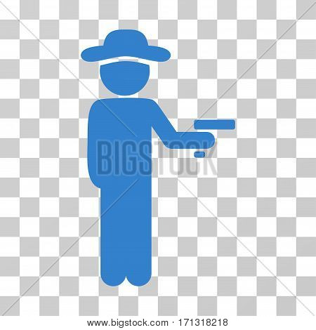 Gentleman Robber icon. Vector illustration style is flat iconic symbol cobalt color transparent background. Designed for web and software interfaces.