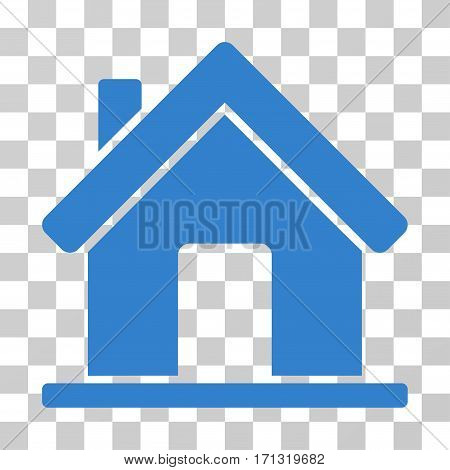 Home icon. Vector illustration style is flat iconic symbol cobalt color transparent background. Designed for web and software interfaces.