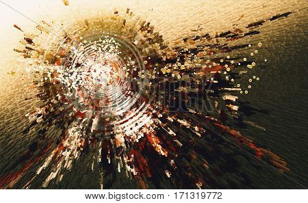 digital painting of abstract high technology circle background