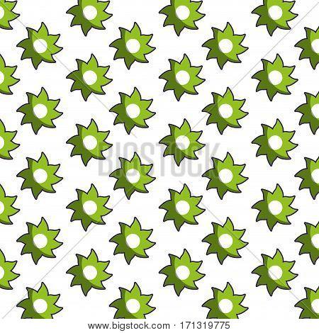 green star shape pattern floral vector illustration