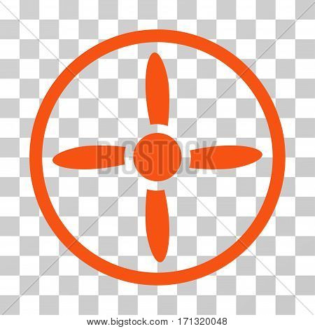 Drone Screw icon. Vector illustration style is flat iconic symbol orange color transparent background. Designed for web and software interfaces.