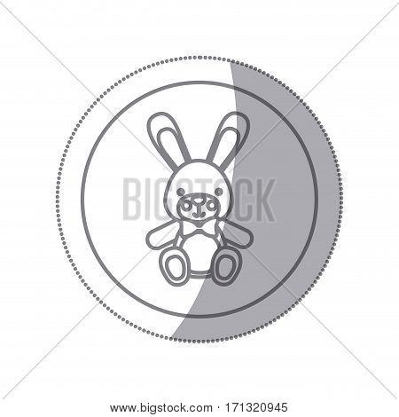 teddy rabbit baby icon image design, vector illustration
