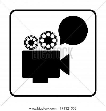 recorder bubble short film icon, vector illustration design