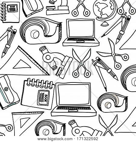 study tools stock icon, vector illustration image