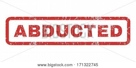 Abducted text rubber seal stamp watermark. Tag inside rectangular shape with grunge design and unclean texture. Horizontal vector red ink sign on a white background.