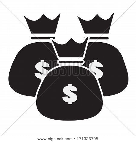 money bags icon trendy on white background. money bag sign.