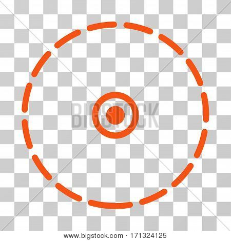 Round Area icon. Vector illustration style is flat iconic symbol orange color transparent background. Designed for web and software interfaces.