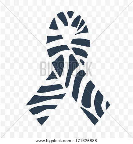 Zebra-print Ribbon  Icon