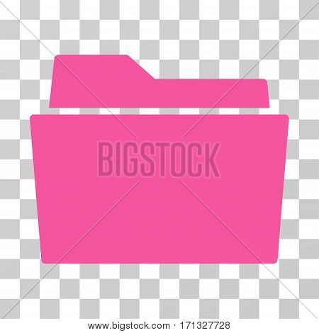 Folder icon. Vector illustration style is flat iconic symbol pink color transparent background. Designed for web and software interfaces.