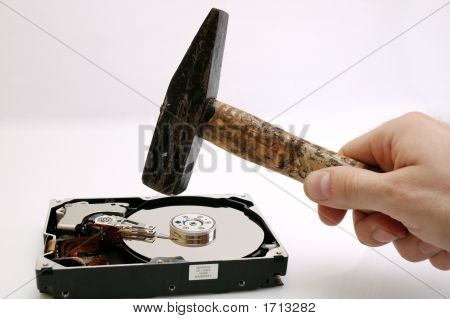 Hard Disk And A Hammer