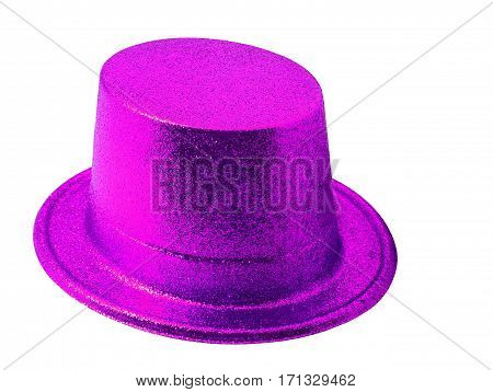 Pink party hat isolated on the white background clipping path.