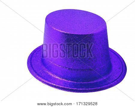 Purple party hat isolated on the white background clipping path.