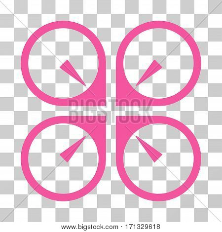 Hover Drone icon. Vector illustration style is flat iconic symbol pink color transparent background. Designed for web and software interfaces.