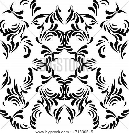 Damask seamless pattern. Damask vector floral pattern with arabesque. Floral elegant   seamless vector fabric texture