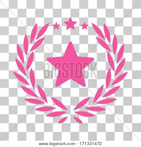 Proud Emblem icon. Vector illustration style is flat iconic symbol pink color transparent background. Designed for web and software interfaces.