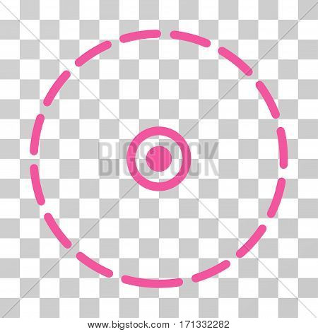 Round Area icon. Vector illustration style is flat iconic symbol pink color transparent background. Designed for web and software interfaces.