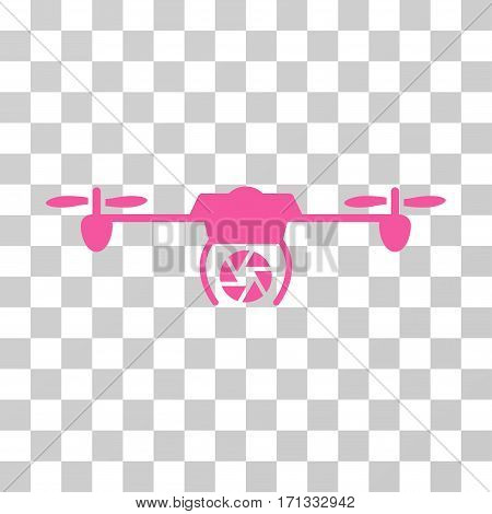 Shutter Spy Airdrone icon. Vector illustration style is flat iconic symbol pink color transparent background. Designed for web and software interfaces.