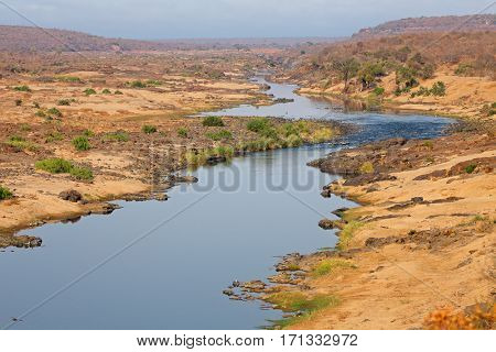 Landscape view of the olifants river, Kruger National Park, South Africa
