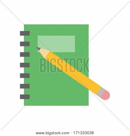 Planner notebook organizer diary paper note page business vector. Document list office school education. Information personal notepad schedule space.