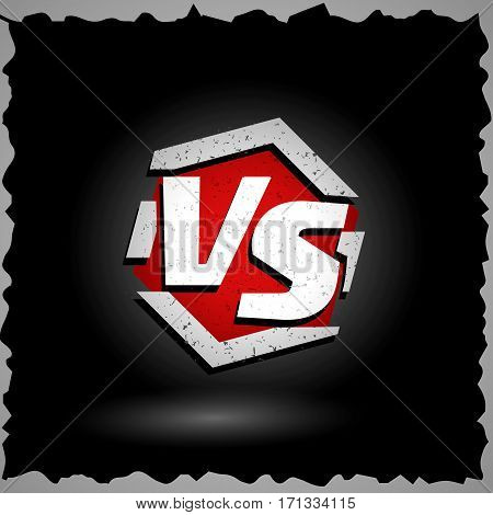 Versus Vector Sign. VS Letters. Competition Concept Background. Fight Confrontation