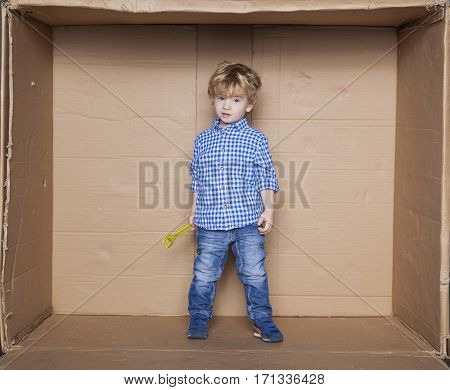 Little Boy As A Handyman