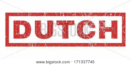 Dutch text rubber seal stamp watermark. Caption inside rectangular shape with grunge design and dust texture. Horizontal vector red ink sticker on a white background.