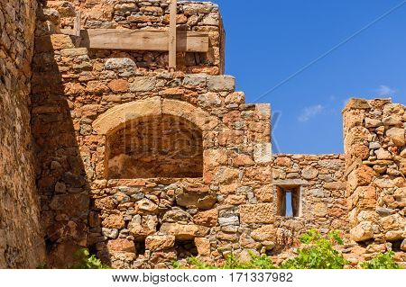 The ruins of the ancient Greek island of Spinalonga