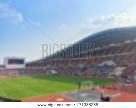 Abstract Blurry  background of stadium background .
