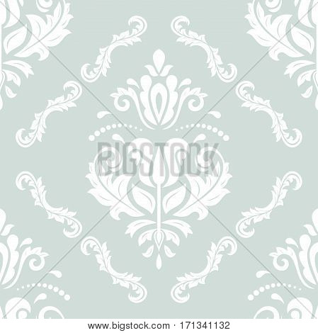 Seamless damask pattern. Traditional classic orient ornament