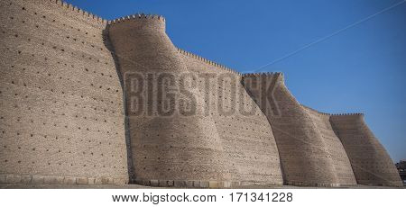 Wall Of The Ark Fortress Of Ancien Bukhara, Uzbekistan
