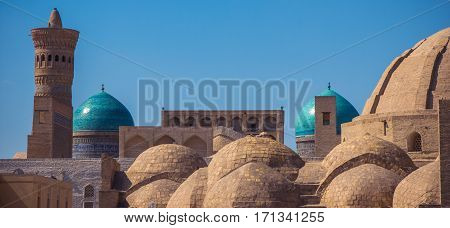 Intersections Of Main Streets Of Medieval Trade Bukhara Served A Purpose Of Trade, Domed Architectur