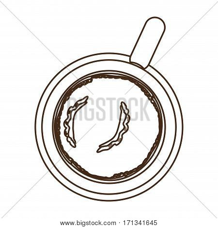 coffee chocolate skillet icon image, vector illustration design