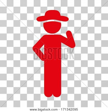 Gentleman Proposal icon. Vector illustration style is flat iconic symbol red color transparent background. Designed for web and software interfaces.