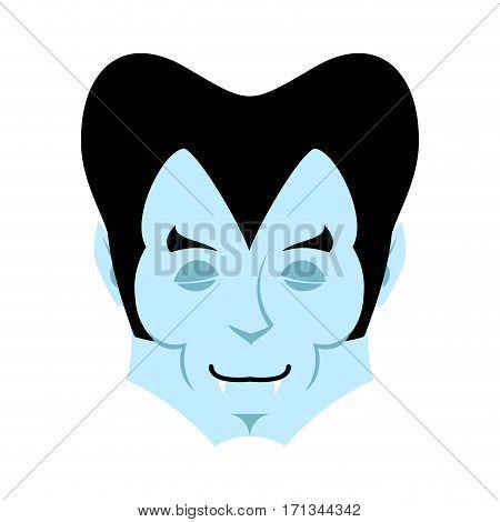Dracula Sleeps Emoji. Vampire Dream Emotion Face Isolated