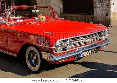 07.12.16. Bucharest Romania. Luxury Chevrolet Impala on the street
